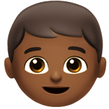 Boy: Medium-Dark Skin Tone on Apple iOS 12.1