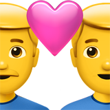 Couple With Heart: Man, Man on Apple iOS 12.1