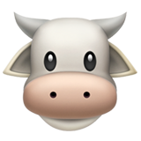 Cow Face on Apple iOS 12.1