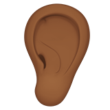 Ear: Medium-Dark Skin Tone on Apple iOS 12.1