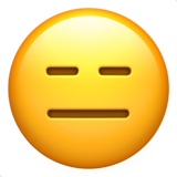 Expressionless Face on Apple iOS 12.1