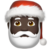 Santa Claus: Dark Skin Tone on Apple iOS 12.1