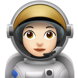 Woman Astronaut: Light Skin Tone on Apple iOS 12.1