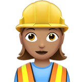 Woman Construction Worker: Medium Skin Tone on Apple iOS 12.1