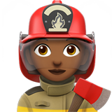 Woman Firefighter: Medium-Dark Skin Tone on Apple iOS 12.1