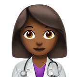 Woman Health Worker: Medium-Dark Skin Tone on Apple iOS 12.1