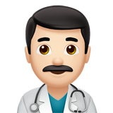 Man Health Worker: Light Skin Tone on Apple iOS 12.1