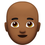 Man: Medium-Dark Skin Tone, Bald on Apple iOS 12.1