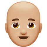 Man: Medium-Light Skin Tone, Bald on Apple iOS 12.1