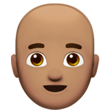 Man: Medium Skin Tone, Bald on Apple iOS 12.1