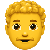 Man: Curly Hair on Apple iOS 12.1