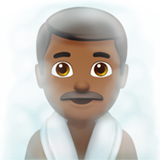 Man in Steamy Room: Medium-Dark Skin Tone on Apple iOS 12.1