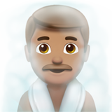 Man in Steamy Room: Medium Skin Tone on Apple iOS 12.1