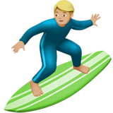 Man Surfing: Medium-Light Skin Tone on Apple iOS 12.1