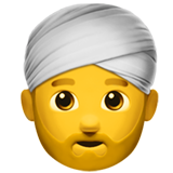 Man Wearing Turban on Apple iOS 12.1