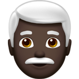 Man: Dark Skin Tone, White Hair on Apple iOS 12.1