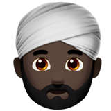 Person Wearing Turban: Dark Skin Tone on Apple iOS 12.1
