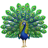 Peacock Emoji on Apple iOS 12.1