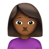Person Frowning: Medium-Dark Skin Tone on Apple iOS 12.1