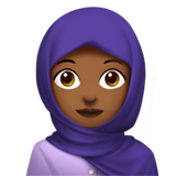 Woman with Headscarf: Medium-Dark Skin Tone on Apple iOS 12.1