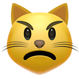 Pouting Cat Face on Apple iOS 12.1