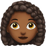Woman: Medium-Dark Skin Tone, Curly Hair on Apple iOS 12.1