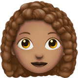 Woman: Medium Skin Tone, Curly Hair on Apple iOS 12.1