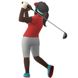Woman Golfing: Dark Skin Tone on Apple iOS 12.1