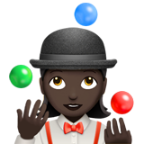 Woman Juggling: Dark Skin Tone on Apple iOS 12.1