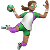 Woman Playing Handball: Medium Skin Tone on Apple iOS 12.1