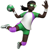 Woman Playing Handball: Dark Skin Tone on Apple iOS 12.1