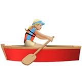 Woman Rowing Boat: Medium-Light Skin Tone on Apple iOS 12.1