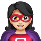 Woman Superhero: Light Skin Tone on Apple iOS 12.1
