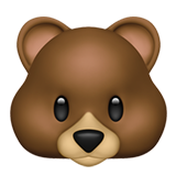 Bear Face on Apple iOS 12.2