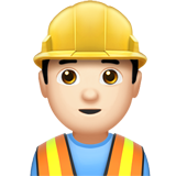 Construction Worker: Light Skin Tone on Apple iOS 12.2