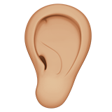 Ear: Medium-Light Skin Tone on Apple iOS 12.2