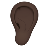 Ear: Dark Skin Tone on Apple iOS 12.2