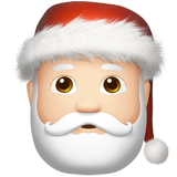 Santa Claus: Light Skin Tone on Apple iOS 12.2
