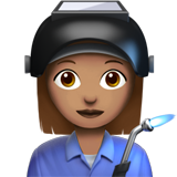 Woman Factory Worker: Medium Skin Tone on Apple iOS 12.2