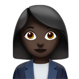Woman Office Worker: Dark Skin Tone on Apple iOS 12.2