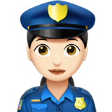 Woman Police Officer: Light Skin Tone on Apple iOS 12.2