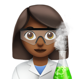 Woman Scientist: Medium-Dark Skin Tone on Apple iOS 12.2