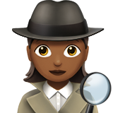 Woman Detective: Medium-Dark Skin Tone on Apple iOS 12.2