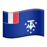 Flag: French Southern Territories on Apple iOS 12.2