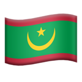 Flag: Mauritania on Apple iOS 12.2