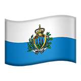 Flag: San Marino on Apple iOS 12.2
