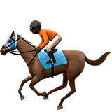 Horse Racing: Dark Skin Tone on Apple iOS 12.2