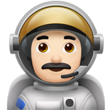 Man Astronaut: Light Skin Tone on Apple iOS 12.2