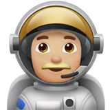 Man Astronaut: Medium-Light Skin Tone on Apple iOS 12.2