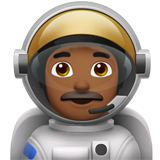 Man Astronaut: Medium-Dark Skin Tone on Apple iOS 12.2